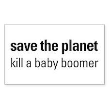 Death 2 Boomers Rectangle Sticker 50 pk)
