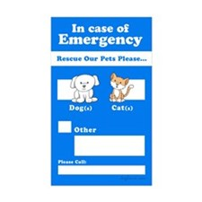 Rescue Our Pets Please Rectangle Sticker 10 pk)