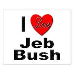 I Love Jeb Bush Small Poster