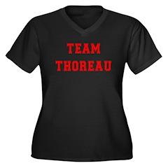Team Thoreau Women's Plus Size V-Neck Dark T-Shirt