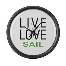 Live Love Sail Large Wall Clock