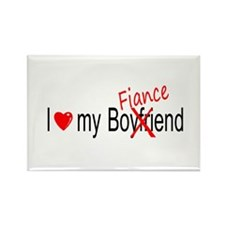 I Love My Fiance Rectangle Magnet (10 pack)
