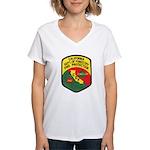CDF Forestry Fire Women's V-Neck T-Shirt