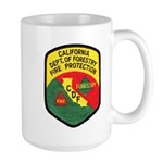 CDF Forestry Fire Large Mug