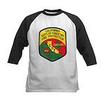 CDF Forestry Fire Kids Baseball Jersey