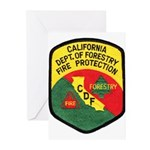 CDF Forestry Fire Greeting Cards (Pk of 10)