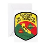 CDF Forestry Fire Greeting Card