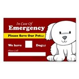 Emergency We Have Dogs Rectangle Sticker 50 pk)