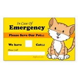 Rescue My Cats Rectangle Sticker 50 pk)