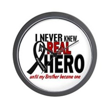 Never Knew A Hero 2 MELANOMA (Brother) Wall Clock