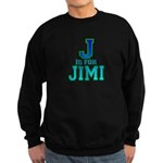 J is for Jimi Sweatshirt (dark)