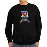 R is for Rainbow Sweatshirt (dark)