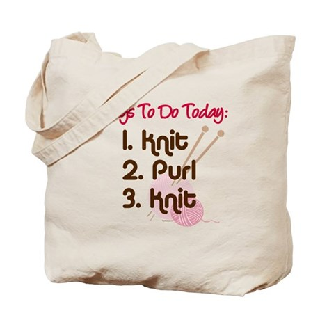Knitter's To Do List Tote Bag