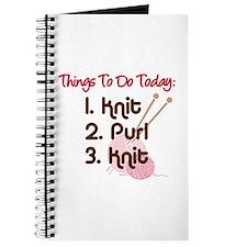 Knitter's To Do List Journal