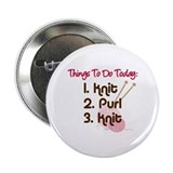 "Knitter's To Do List 2.25"" Button"