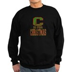 C is for Christmas Sweatshirt (dark)