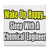 &quot;Sleep w/ Chemical Engineer&quot; Tile Coaster