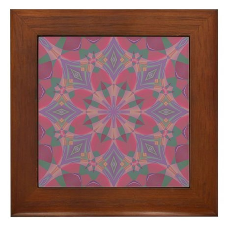 Pink Delight Framed Tile