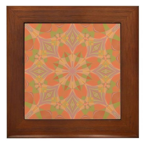 Peach Delight Framed Tile