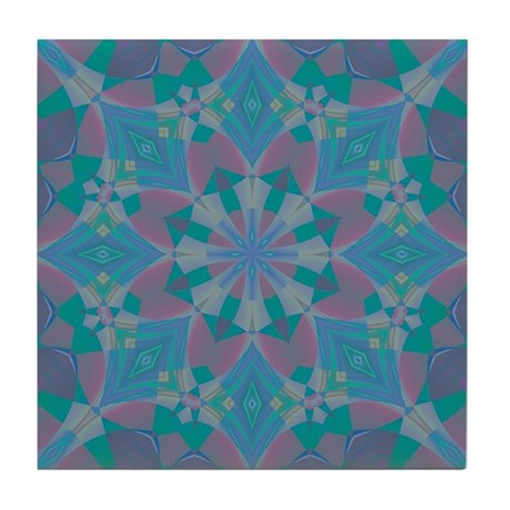 Blue Delight Tile Coaster