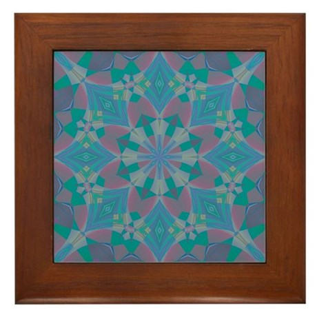 Blue Delight Framed Tile