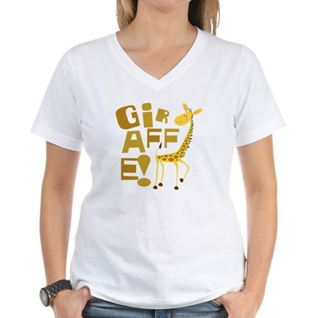 Giraffe! Women's V-Neck T-Shirt