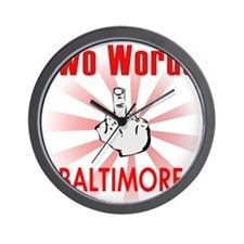 Cute Baltimore city Wall Clock