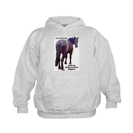 Big Butt Percheron Kids Hoodie