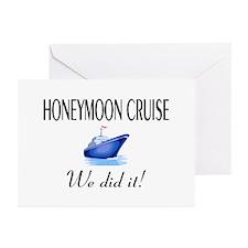 Honeymoon Cruise Greeting Cards (Pk of 10)