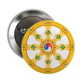 "Dharmachakra wheel 2.25"" Button (10 pack)"