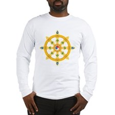 Dharmachakra wheel Long Sleeve T-Shirt