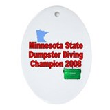 MN champ / red Oval Ornament