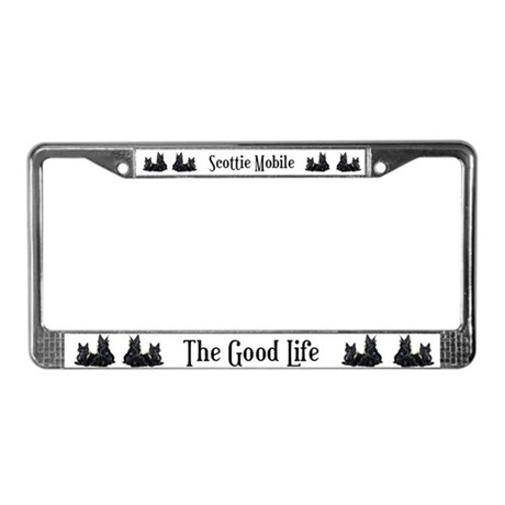 Scottish Terrier Pair License Plate Frame