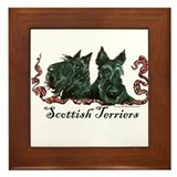Scottish Terrier Pair Framed Tile