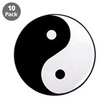 "Yin Yang Symbol 3.5"" Button (10 pack)"