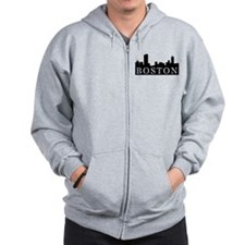 Boston Skyline Zip Hoodie