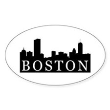 Boston Skyline Oval Decal