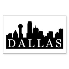 Dallas Skyline Rectangle Sticker 10 pk)