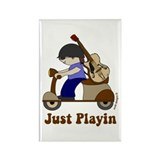 Just Playin Scooter Rectangle Magnet (100 pack)