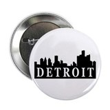 "Detroit Skyline 2.25"" Button (100 pack)"