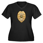 Wheat Ridge Police Women's Plus Size V-Neck Dark T