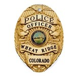 Wheat Ridge Police Oval Ornament