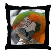 Harlequin Macaw Foot Throw Pillow