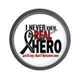 Never Knew A Hero 2 MELANOMA (Aunt) Wall Clock
