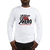 Never Knew A Hero 2 MELANOMA (Aunt) Long Sleeve T-