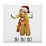 Irish Terrier HO HO HO Tile Coaster
