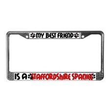 Staffordshire Terrier License Plate Frame