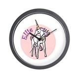-Ellie Unicorn Wall Clock