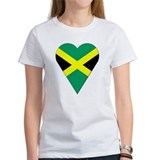 Jamaica Heart-Shaped Flag Tee