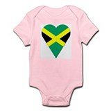 Jamaica Heart-Shaped Flag Infant Creeper
